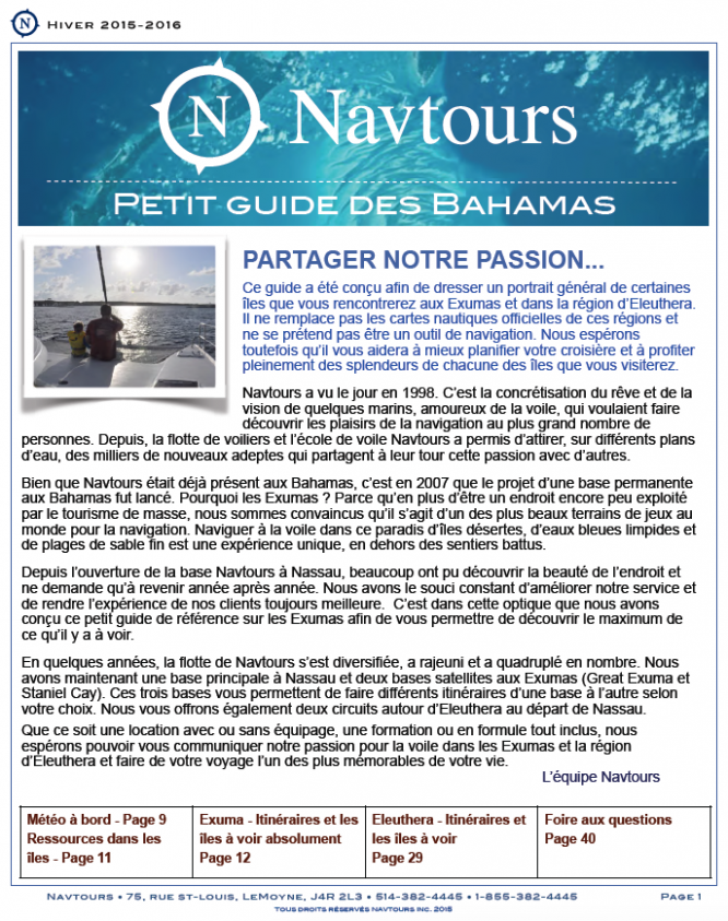 Navtours cover guide
